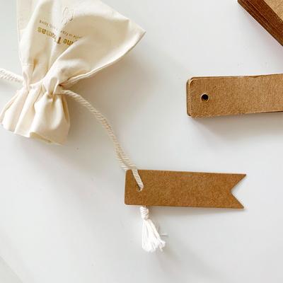 크라프트 답례용 모양라벨지 종이택 선물용 라벨택