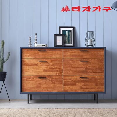 포앙 원목 와이드 서랍장 3단