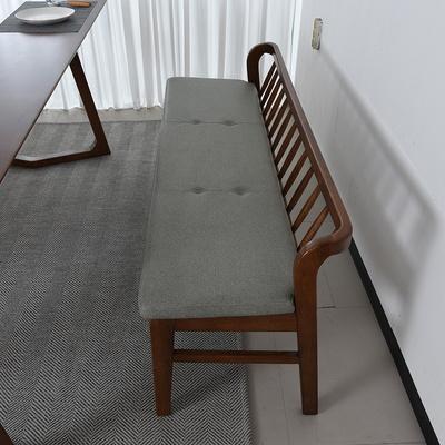우투 고무나무 원목 2인 벤치의자