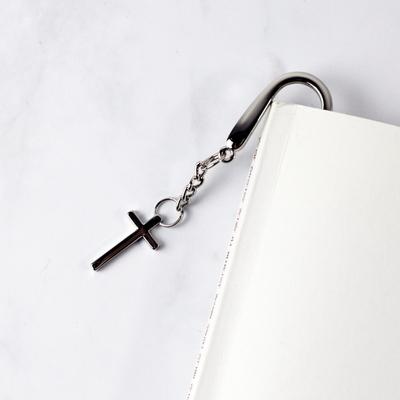 리겔 이니셜각인 메탈 십자가 책갈피 북마크 봉투칼