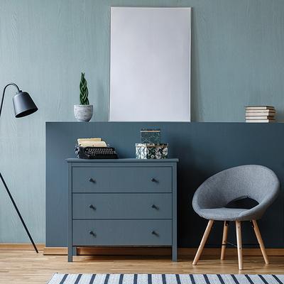 페인팅우드 블루칼라 3종 무늬목시트지 가구 리폼