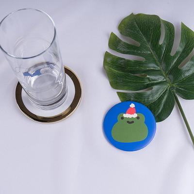 뚜누 개구리 원형 예쁜미니손거울