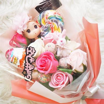 12롤리 인형 꽃다발 킨더조이 재롱잔치 졸업식 사탕