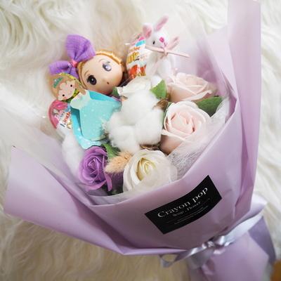 15보라 인형 꽃다발 킨더조이 재롱잔치 졸업식 사탕
