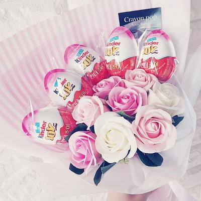 25킨더5 꽃다발 킨더조이 재롱잔치 졸업식 사탕