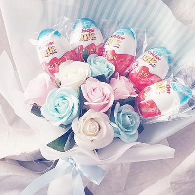 26킨더5 꽃다발 킨더조이 재롱잔치 졸업식 사탕