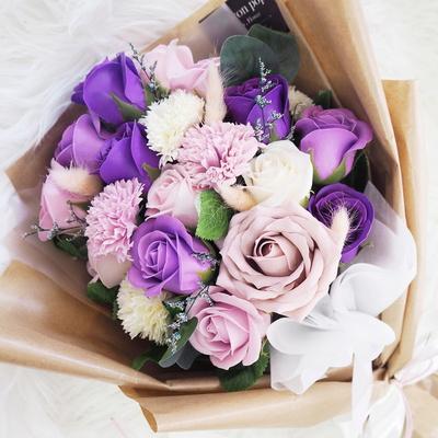 빅로즈 카네이션 졸업식 꽃다발 축하 기념일 20송이 d-2