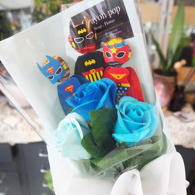 캐릭터 3종 사탕 꽃다발 사탕부케 유치원 졸업식 블루