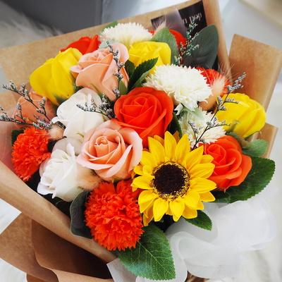해바라기 장미 졸업식 꽃다발 축하 기념일 20송이 d-3