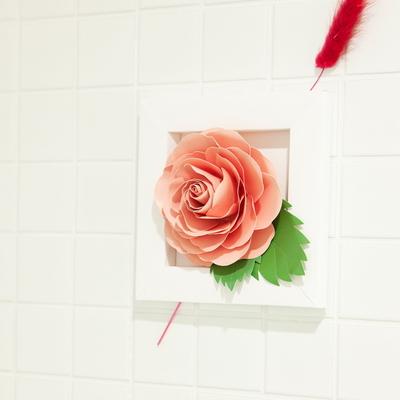 페이퍼크래프트 페이퍼플라워 핑크장미 paper flower pink Rose
