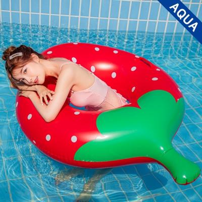 아쿠아 딸기 원형튜브