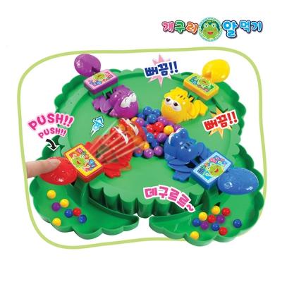 온가족 보드게임 개구리 알먹기 작동 게임