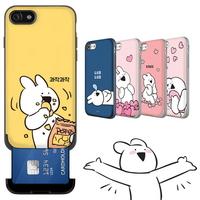 오버액션토끼 카드슬롯 케이스 아이폰X XS
