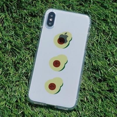 아이폰6/6플러스 슬림핏 아보카도 3형제 소프트젤리케이스