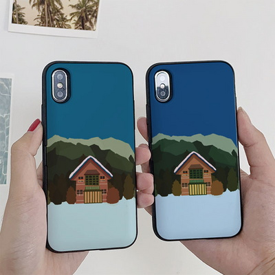 아이폰X/XS 노구 겨울 집 카드케이스