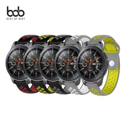 bob 갤럭시워치/액티브1 2 스포츠 우레탄 실리콘 밴드 시계줄 스트랩 40/42/44mm 46mm