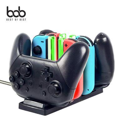 bob 닌텐도스위치 전용 6in1 조이콘 프로콘 충전독 컨트롤러 거치대 HBS-120