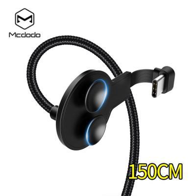 Mcdodo 맥도도 Type-C QC4.0 듀얼 흡착패드 LED 게이밍 충전케이블 150CM 갤럭시노트10 폴드 S9 8 A90