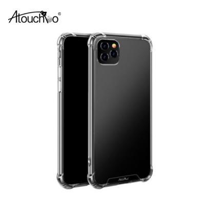 Atouchbo 어터치보 아이폰 안티쇼크 투명 클리어 아머 범퍼케이스 iPhone 11 프로 맥스 XS XR 8 7