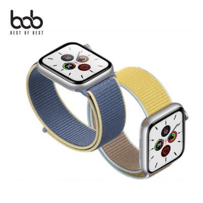 bob 애 플워치 전용 투톤 우븐 나일론 벨크로 스포츠 루프 밴드 Apple Watch 전세대 38/40/42/44MM