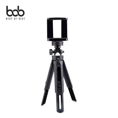 bob 3단 높이조절가능 스마트폰 미니 삼각대 핸드그립 ZR518 휴대폰 디카 액션캠 셀프촬영