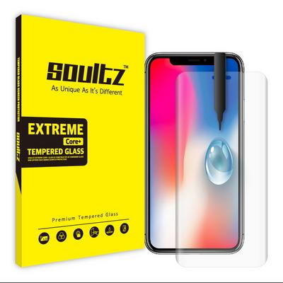 솔츠 아이폰 X XS UV 방탄 강화유리 액정보호필름