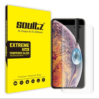 솔츠 아이폰 XS MAX UV 방탄 강화유리 액정보호필름