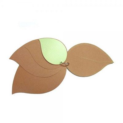 [KC인증]나뭇잎  - 스크랩북
