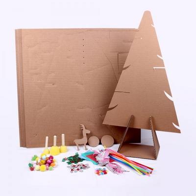 크리스마스 종이 트리 세트 (10인용) 꾸미기 포함