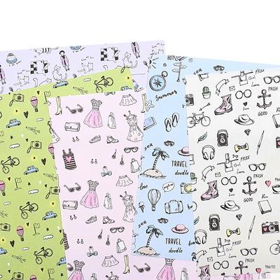 만꾸 손그림 무늬 색종이(15cm/단면)