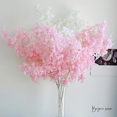 벚꽃 구경 못했다면 집에서 토틀리스 꽃 구경하기 - 인테리어조화 실크플라워