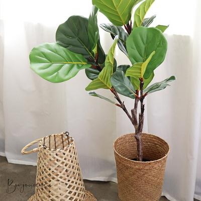 리얼리티가 돋보이는 대형 떡갈 고무나무 화분 - 인테리어조화 조화나무