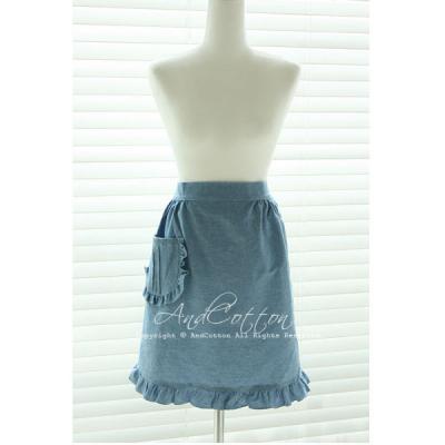 블루 프릴 허리앞치마(2color)