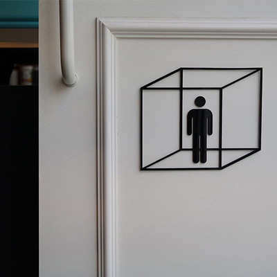 화장실표지판 Zerogravity