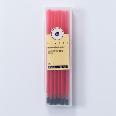 식스비 지워지는 볼펜 전용 리필심 12개세트 0.5mm