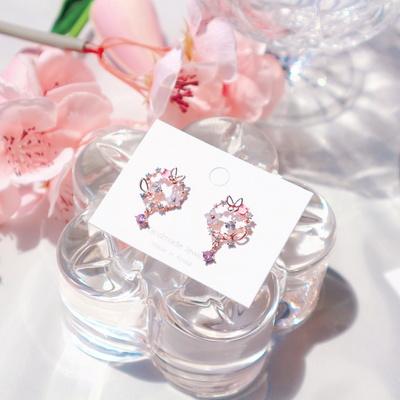 (silver925) 나비화원 미니귀걸이