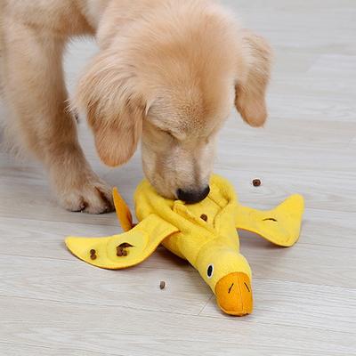 강아지 오리 인형 휴대용 킁킁 노즈워크 삑삑 장난감