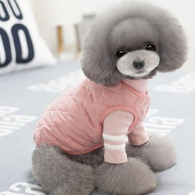 강아지 퀼팅 조끼 패딩