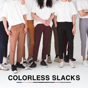 [SLIM] 컬러리스 9부 슬랙스 (10color)