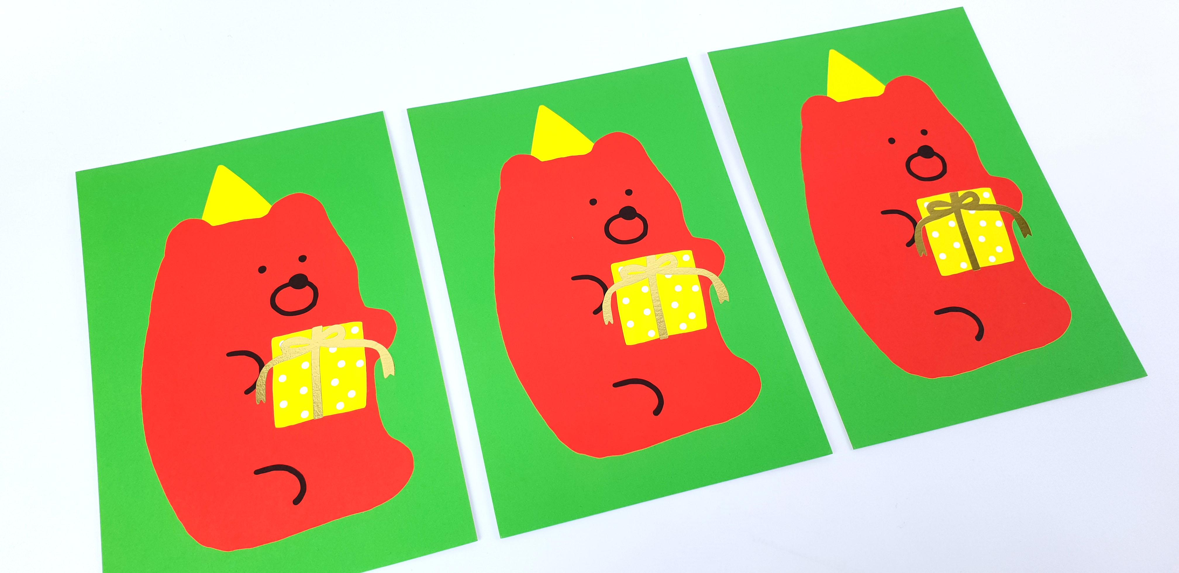 곰젤리 파티 엽서 - 크래커스토어, 3,000원, 카드, 크리스마스 카드