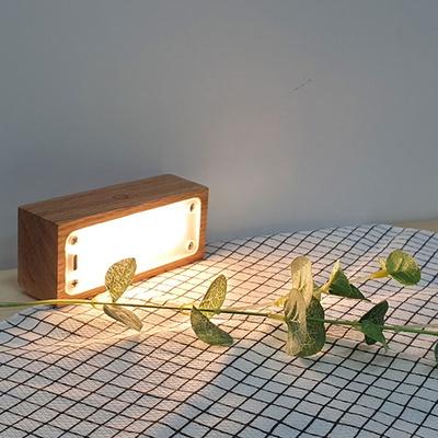 독서스탠드 LED독서등 책상조명 직사각형 오크
