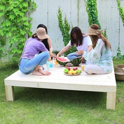 정원 테이블 벤치 평상만들기 원목가구 대형/도토리