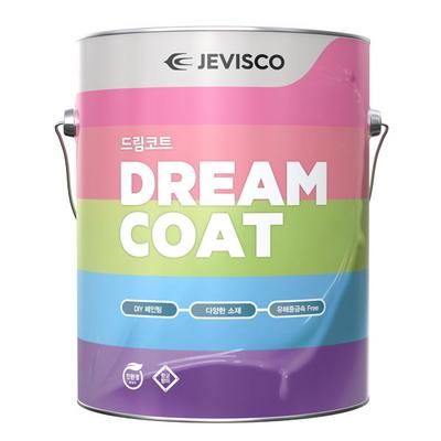 제비스코 드림코트 에그쉘광 3.8L 친환경 셀프벽지페인트
