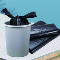 손잡이형 마트 검정봉투(1묶음) - 100장 쓰레기봉투
