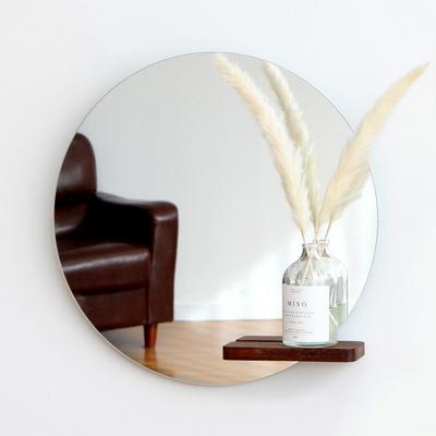 멀바우 원목 선반 거울