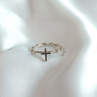 십자가 마리아 링 (925 silver)