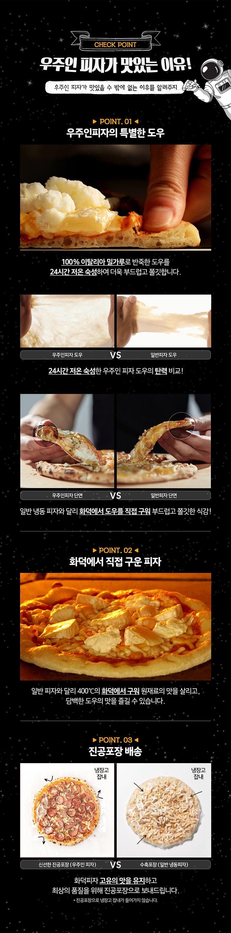 J630 허니갈릭 페퍼로니 - 우주인피자, 11,900원, 간편조리식품, 피자/핫도그/햄버거