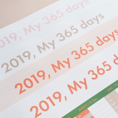 MY 365 DAYS CALENDAR (4 COLORS)