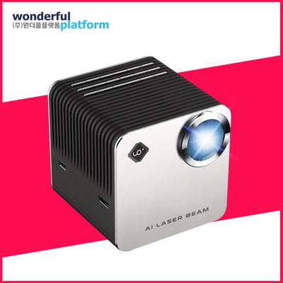 유오플러스 블랙 레이저빔 미니빔프로젝터 오토포커스 UOPLUS UO+