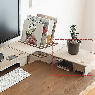 에코모니터보조받침대-우드색 자작나무9T